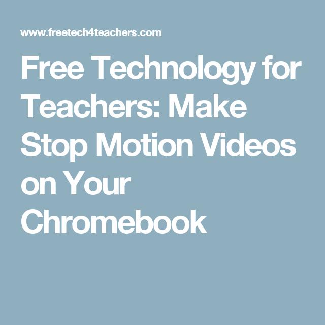 Make Stop Motion Videos on Your Chromebook | učení (se) | Učení