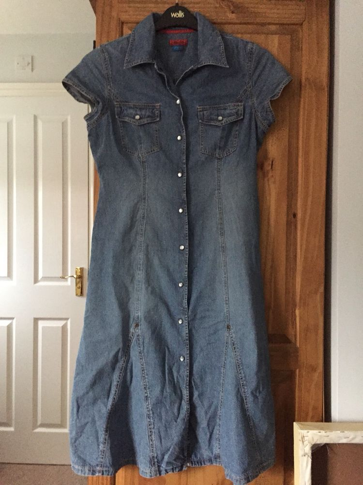 1636bb4e60e  DenimDress Monsoon Denim Dress 10 - Denim Dress  9.91 (0 Bids) End Date