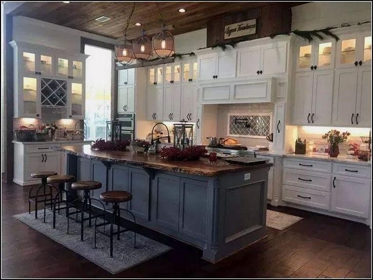 ️ 39 Rustic Farmhouse Kitchen Ideas Look Luxurious 23