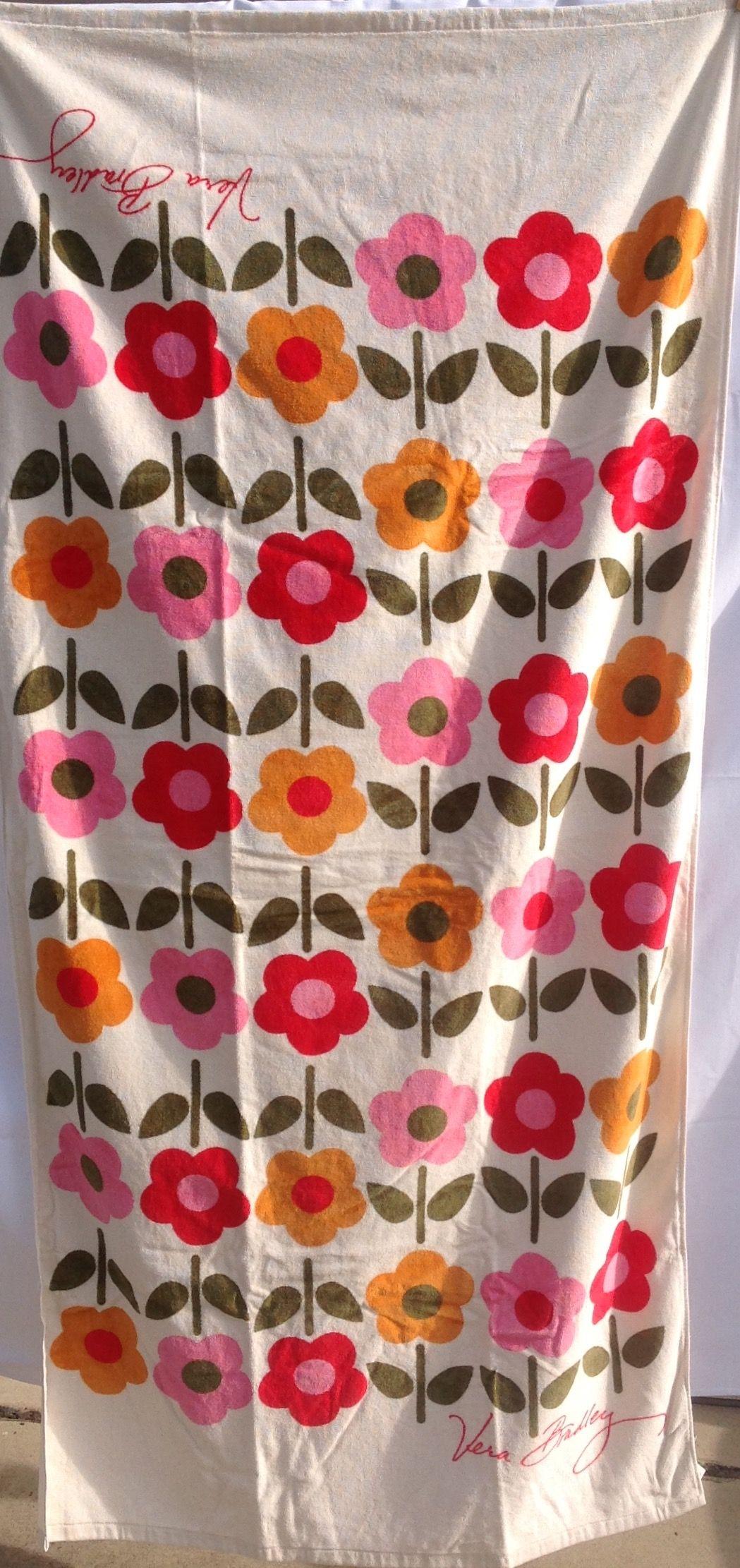 Vera bradley shower curtain - Vera Bradley Folkloric Beach Towel Set On Ebay Very 60 S