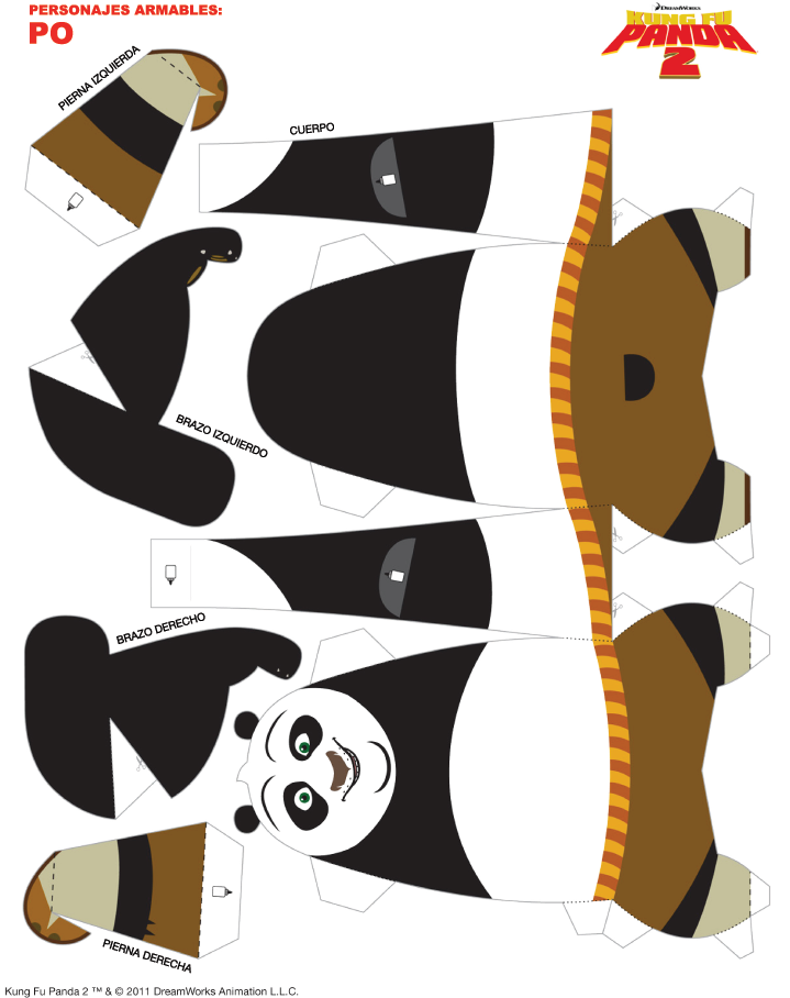 2 Of 2 Http Www Paramountpictures Com Mx Site Kungfupanda2 Actividades Plantillas De Animales Panda Cumpleaños Fiesta Temática De Panda