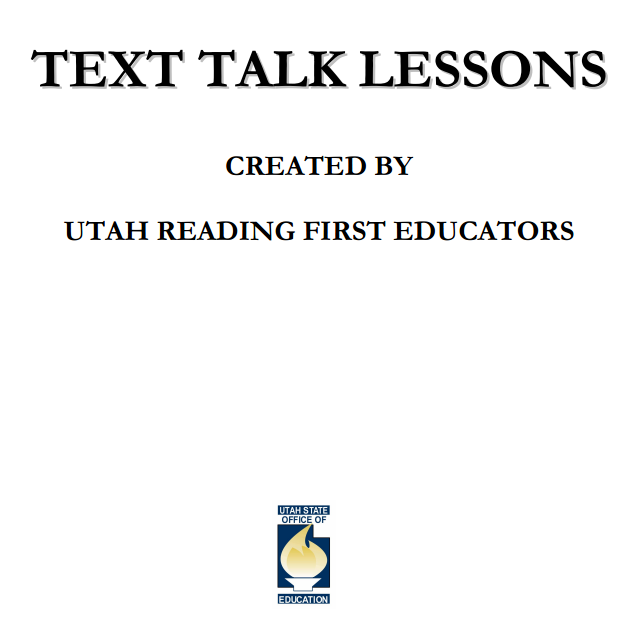 Text talk lessons (from the Utah State Dept. of Ed.) get