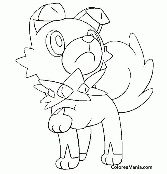 Colorear Rockruff. Pokemon Sol y Luna | dibujos para colorear ...