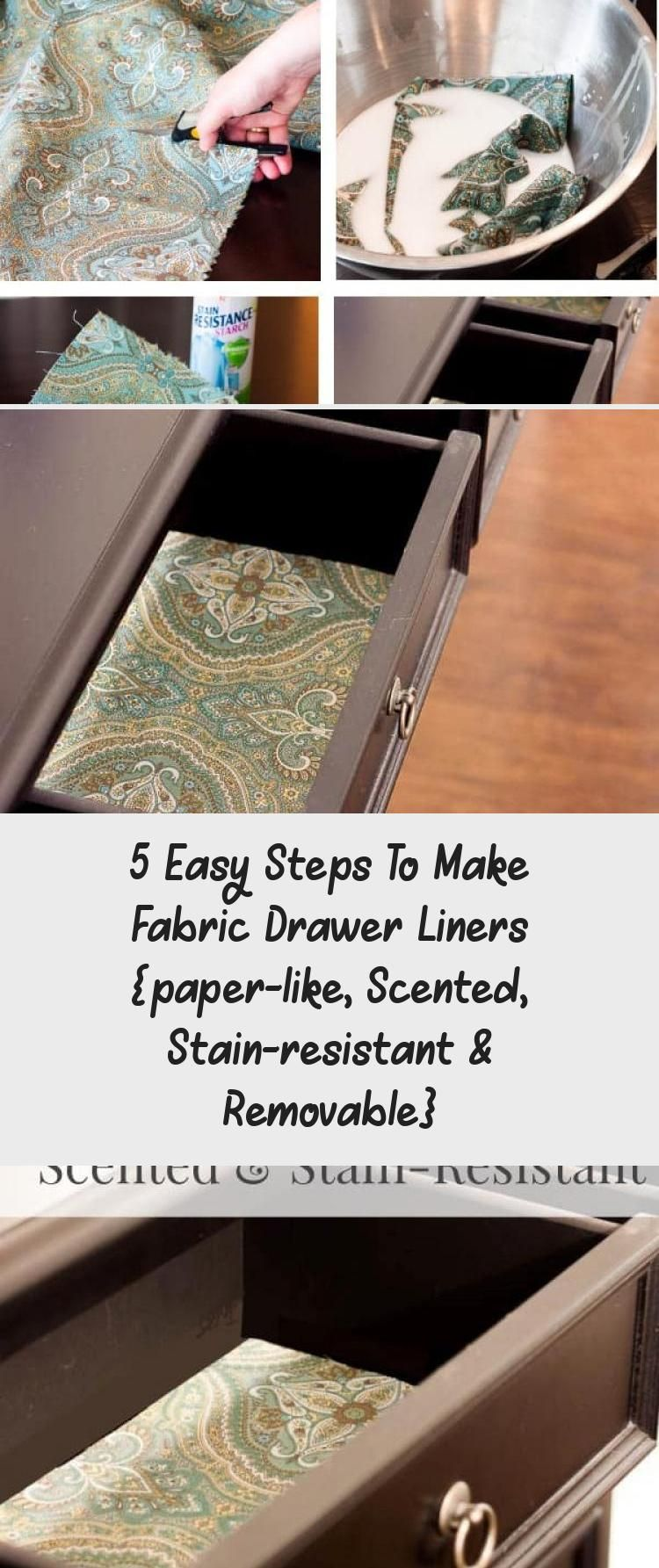 5 Easy Steps To Make Fabric Drawer Liners Paper Like Scented Stain Resistant Removable In 2020 Fabric Drawers Drawer Liner Stain Resistant