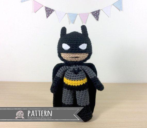 Frau Tschi-Tschi: Batman - Amigurumi - Anleitung kostenlos ... | 496x570