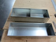 Sheet Metal Bending Brake Practice 102 Two Sheet Metal Boxes Sheet Metal Wood Turning Metal Bending