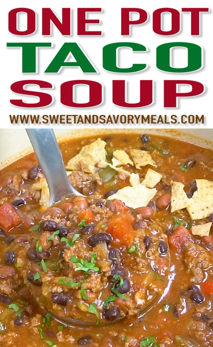 Taco Soup recipe made easily in one pot is hearty, delicious and full of flavor. Made with affordable and easy to find ingredients for the ultimate meal!