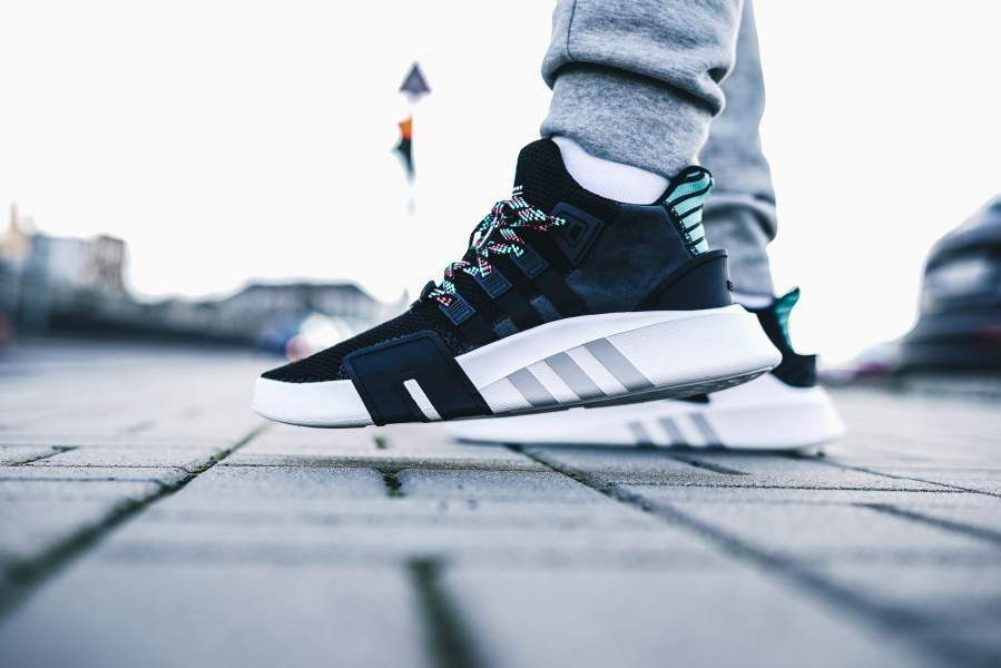 online store e5c84 4810c ADIDAS ORIGINALS EQT BASK ADV - CORE BLACK  SUB GREEN SNEAKERS ALL SIZES  adidas RunningShoes
