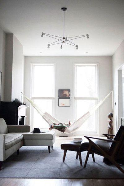 Minimalist House 85 Design: Living Room Hammock, Room Hammock, Minimalist Home