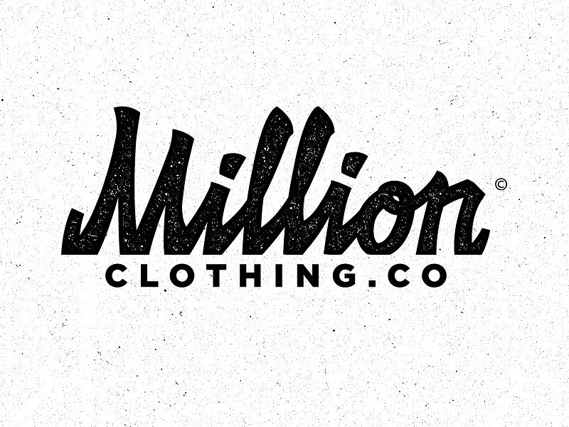 Million.co Clothing brand logos, Fashion logo