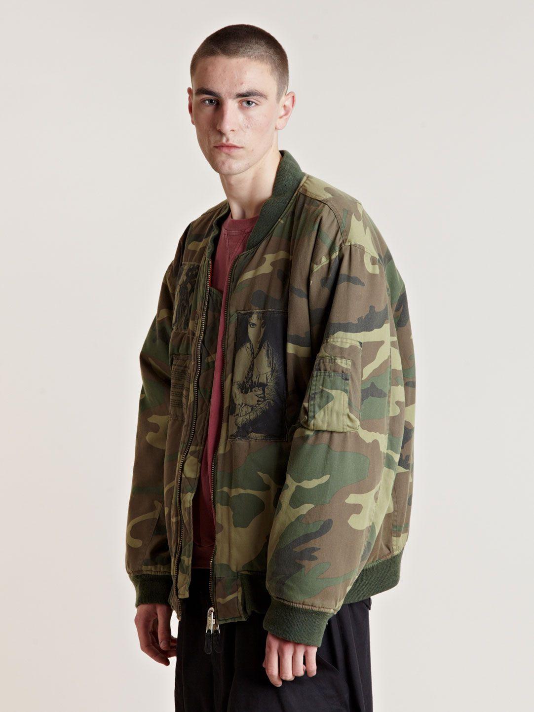 Raf Simons Raf Simons Camo Bomber Jacket Kanye West Style [ 1443 x 1082 Pixel ]