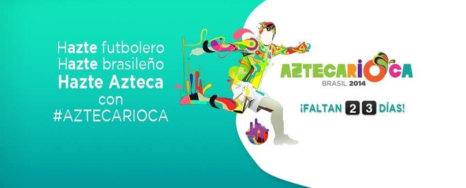 Hazte futbolero,  Hazte brasileño,  Hazte Azteca con #Aztecarioca   http://www.aztecadeportes.com/capitulos/brasil-2014/2014-05-09-18-48/aztecarioca--antonio-rosique/