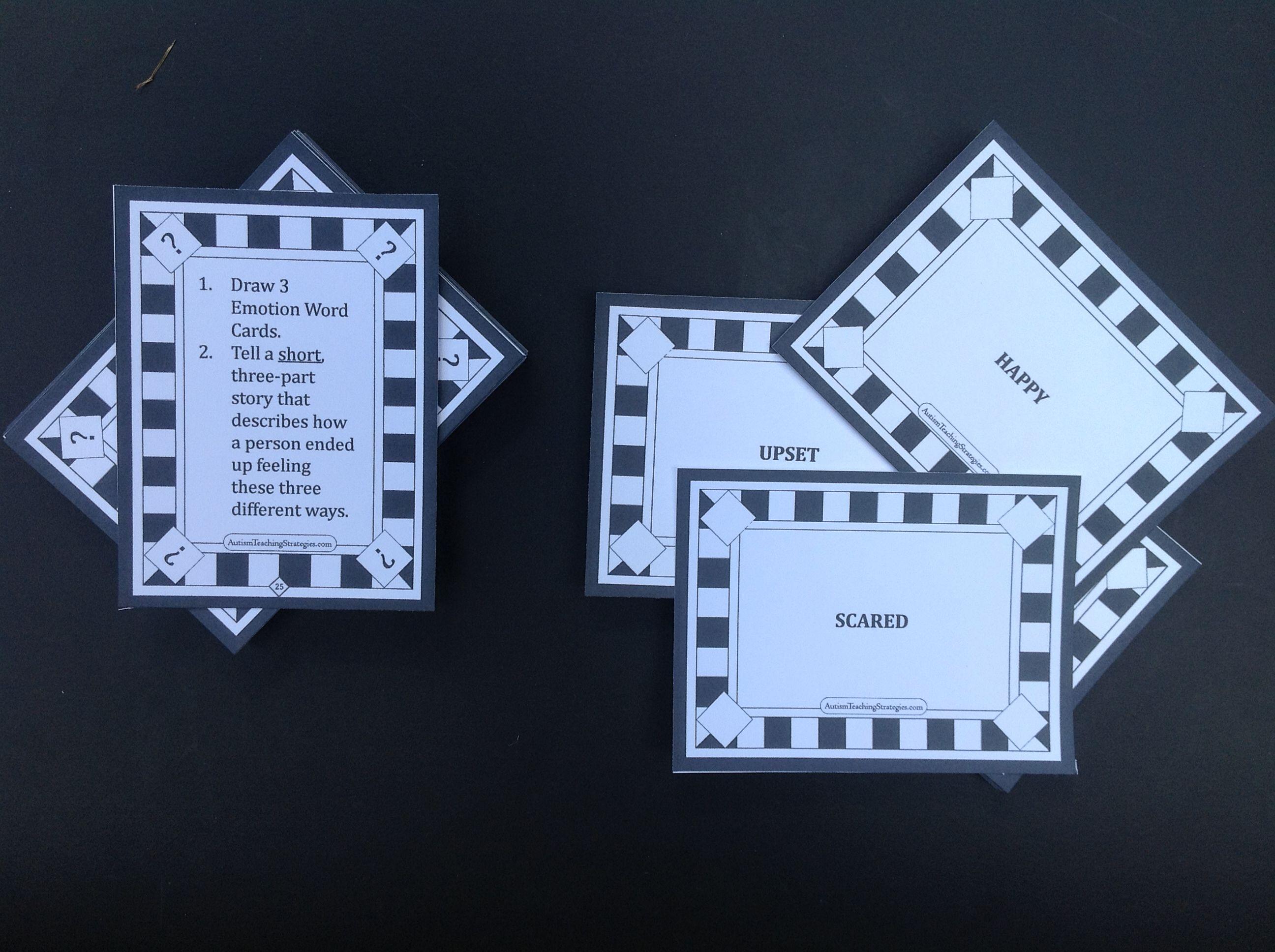 Emotion Card Example Emotion Storytelling