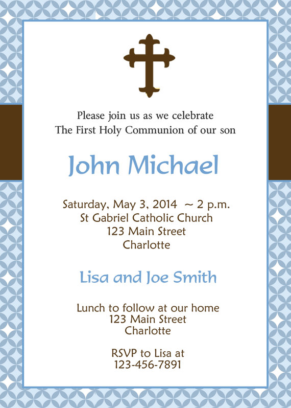 first holy communion invitation boys first by thebutterflypress