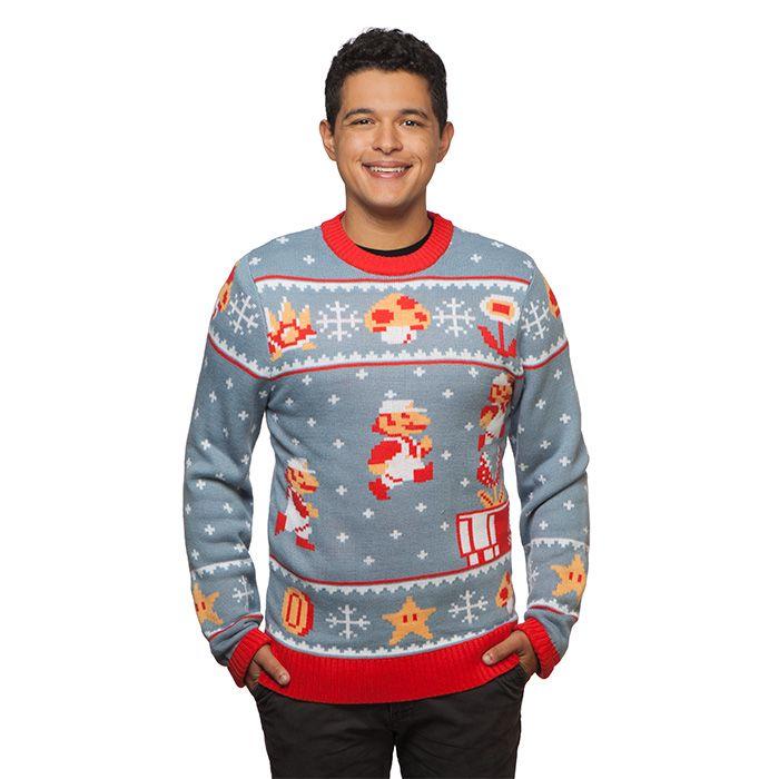 Mario Kersttrui.Super Mario Bros Holiday Sweater I Want It Pinterest