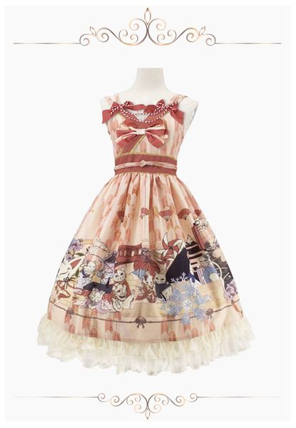 【CR】Lolita原创设计【百鬼化猫】JSK SK 和风羽织定金