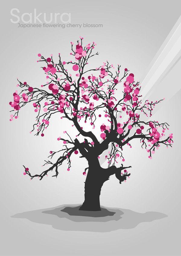 Sakura Japanese Flowering Cherry Blossom By Josh Overton Via Behance Cherry Blossom Tree Tattoo Tree Drawing Cherry Blossom Tree