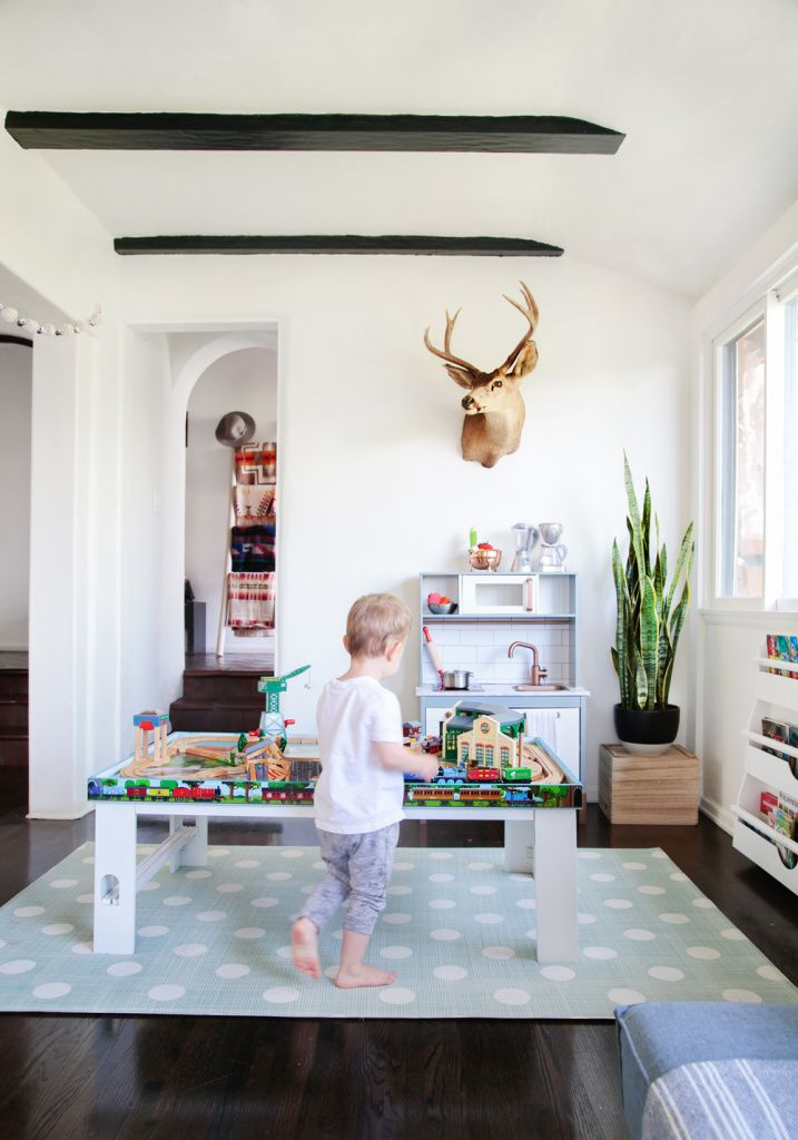 Suzanneu0027s Sophisticated Childrens Playroom Makeover Neutral Kids