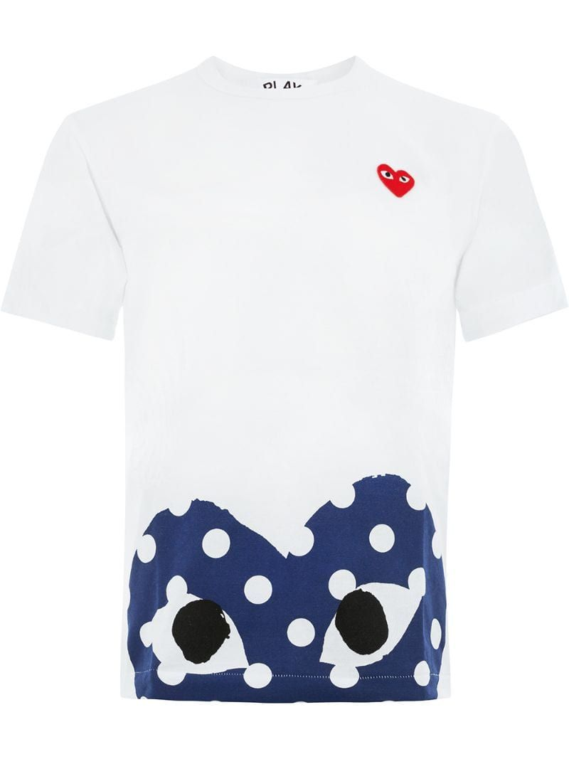 heart print T shirt in 2020 | Play hearts, Heart print