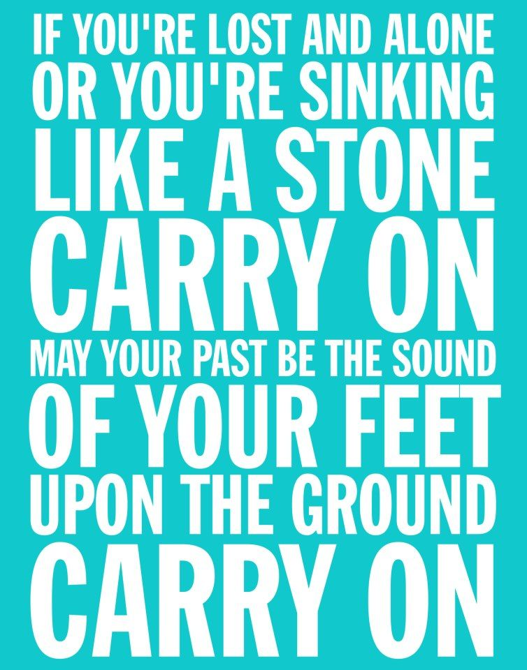 Carry On Lyrics By Fun Design By The Paper Cupcake