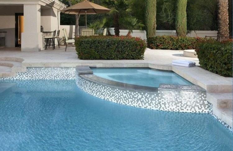 modern pool tile designs dining room