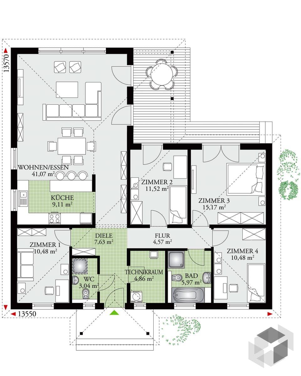 Perfect 124 von DAN-WOOD | Bungalow | Walmdach | Haus | Pinterest ...