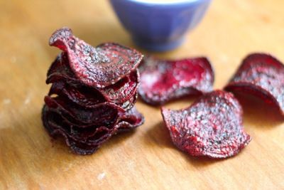 beet chips but without vegetale oil and mayo recipe. Cook it for about 25min in the oven