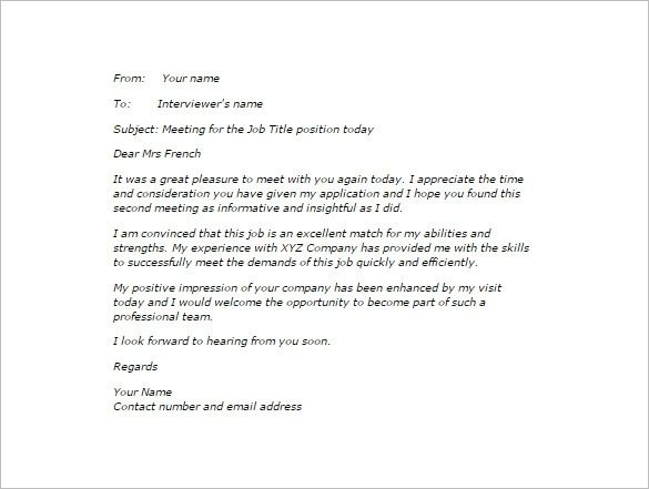 Thank You Email After Second Interview 5 Free Sample Example Inside 2nd Interview Thank You Interview Thank You Interview Thank You Letter Thank You Letter