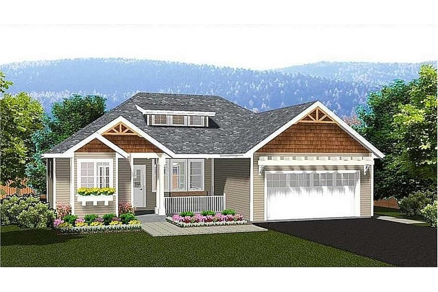 Ranch Floor Plan 3 Bedrms 2 Baths 1244 Sq Ft Plan 177 1055 Craftsman Style House Plans Affordable House Plans House Plans