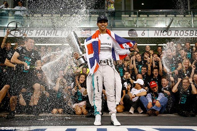 Hamilton was crowned Formula One champion at the Abu Dhabi race in November after beating Nico Rosberg