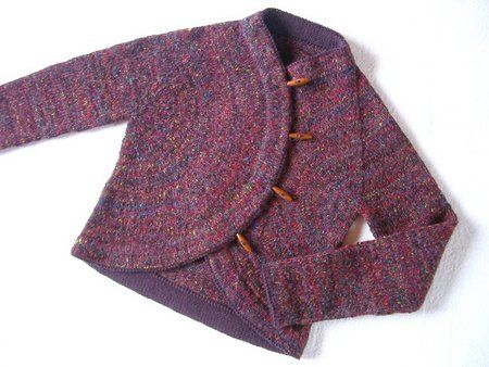 from ishi's knitting diary: Sunrise Circle Jacket by Kate Gilbert, in Interweave Knits spring '06. Pattern for purchase available through Ravelry