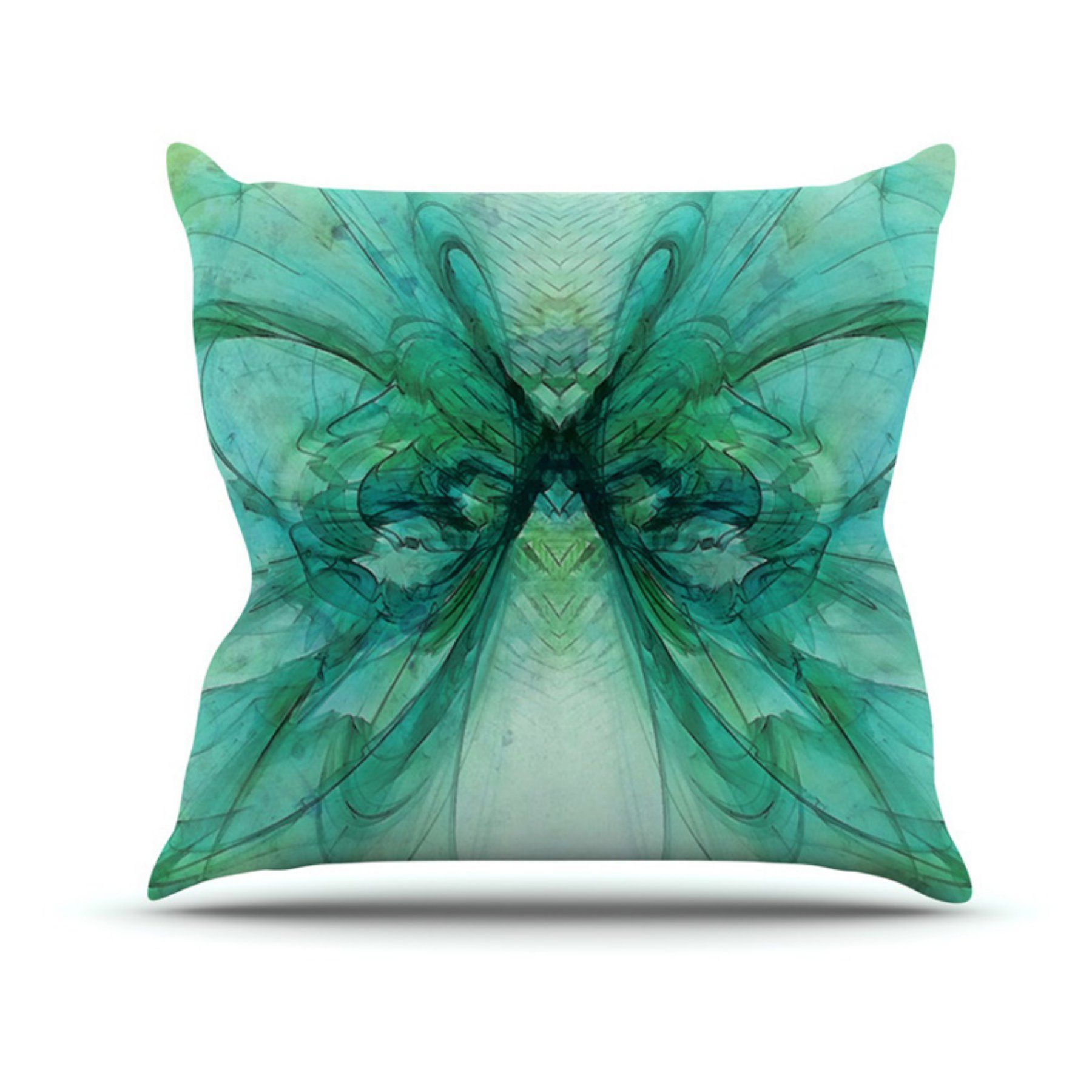 Kess inhouse alison coxon butterfly indooroutdoor throw pillow
