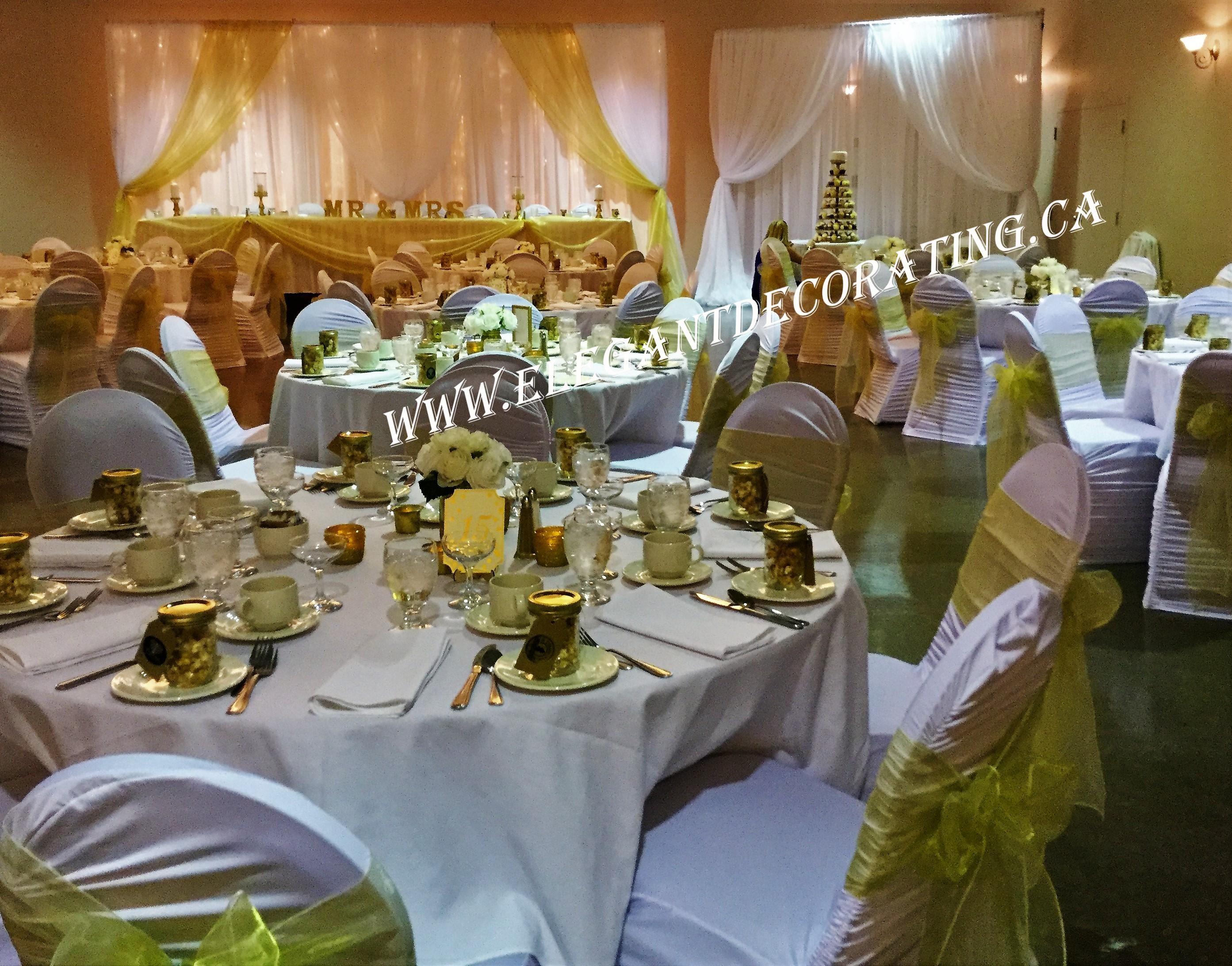 Fabric Draping Backdrop For Head Table Edmonton Wedding, Wedding Rentals,