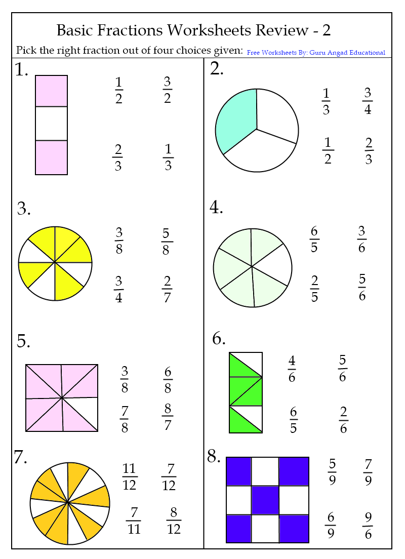 fractions worksheets grade 3   Fractions worksheets [ 1104 x 800 Pixel ]