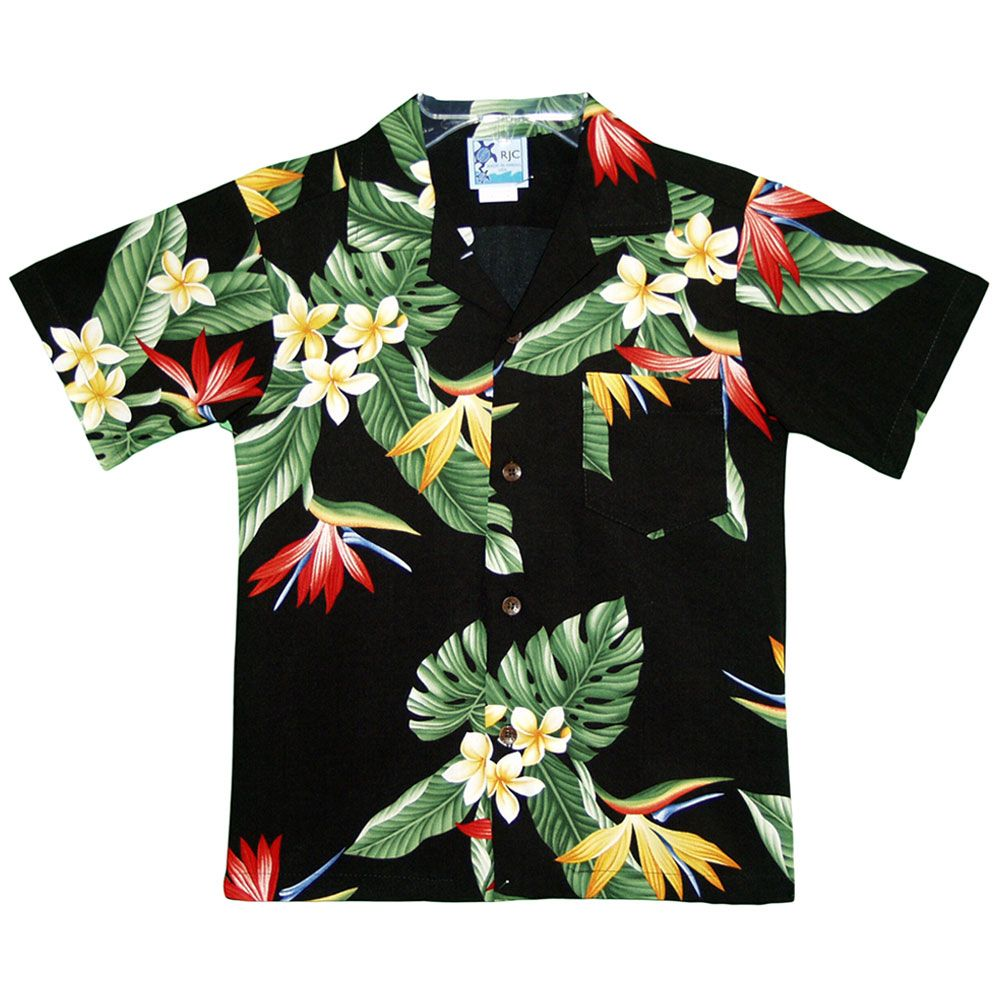 e9f7f98b8d9 Boys Hawaiian Rayon Shirt Birds of Paradise in 2019   Hawaiian ...