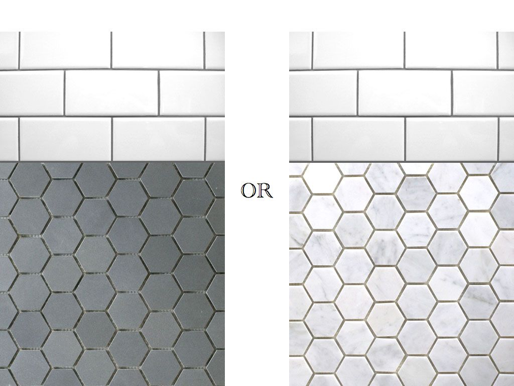 Great Tile Ideas For Small Bathrooms Hexagon Tile Bathroom Floor Hexagon Tile Bathroom Tile Bathroom