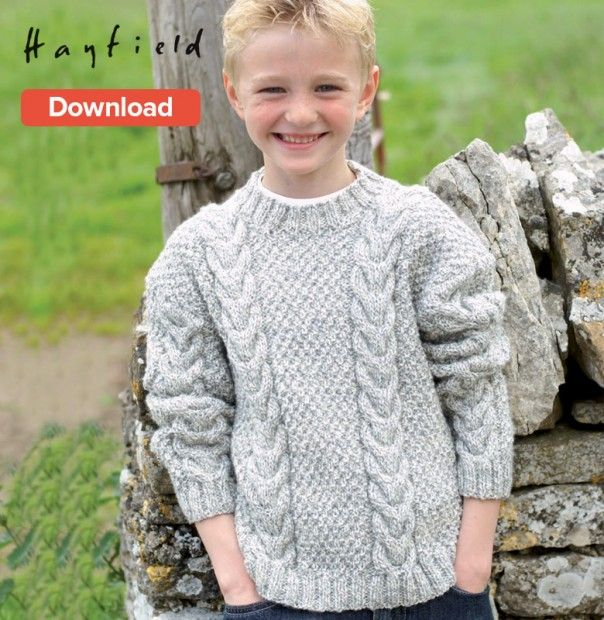 336d28eccf8a3 Hayfield Free Pattern. Children and adult sizes.