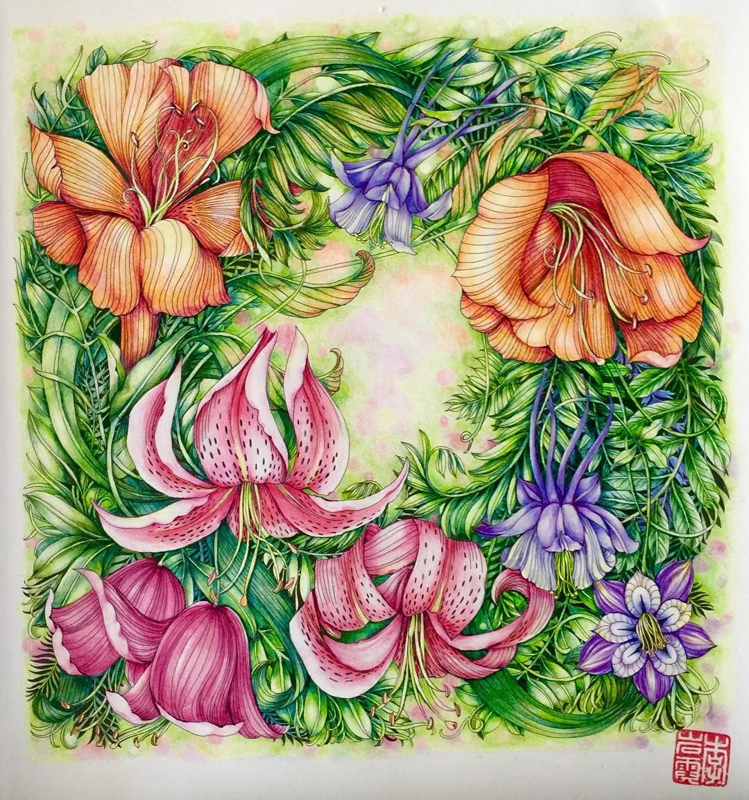Morning glory flower coloring pages - Inspirational Coloring Pages By Cherrycolours Leiladuly Floribunda Colourpencil Livrosdecolorir Adultcoloring