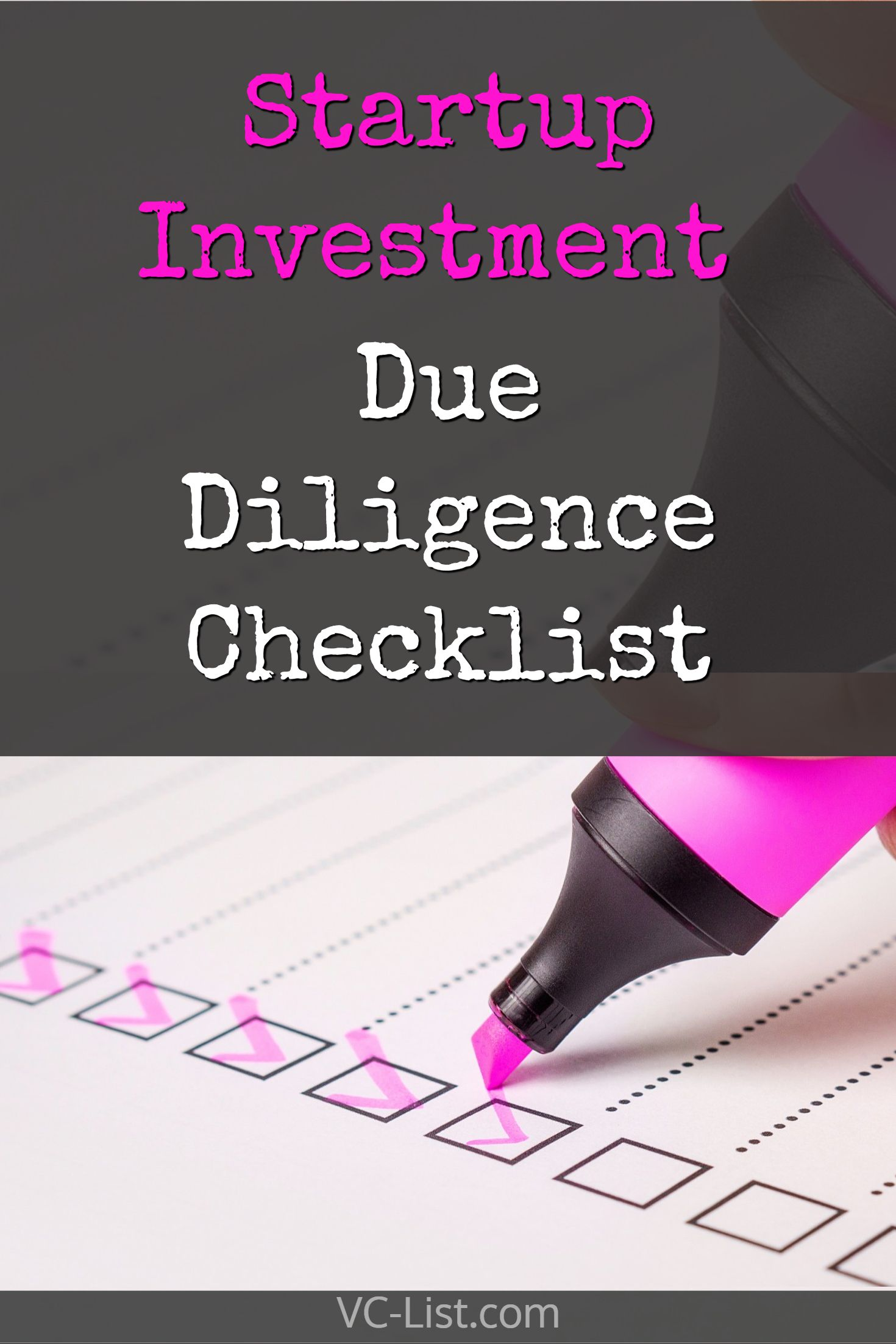 Startup Investment Due Diligence Checklist | Startup and Funding