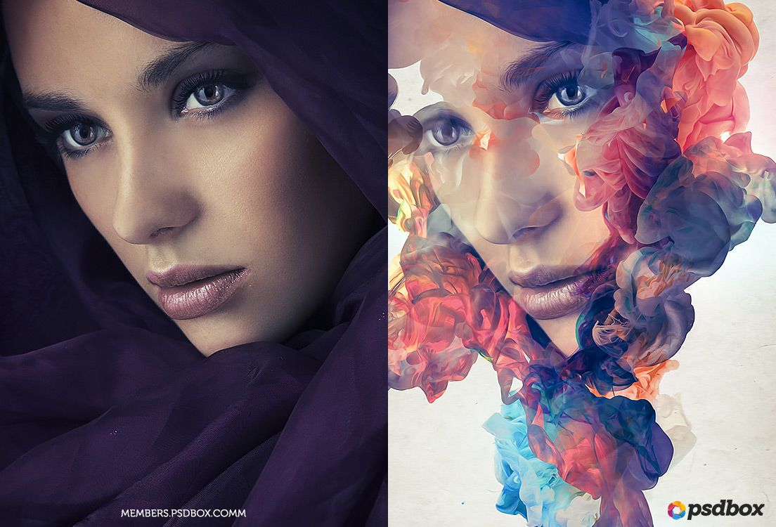 In this tutorial you will learn how to create an abstract ink in this tutorial you will learn how to create an abstract ink portrait effect in photoshop baditri Image collections