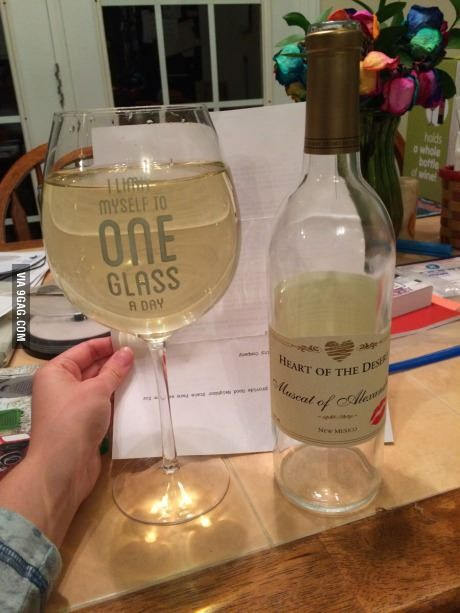 One glass never hurt anyone.