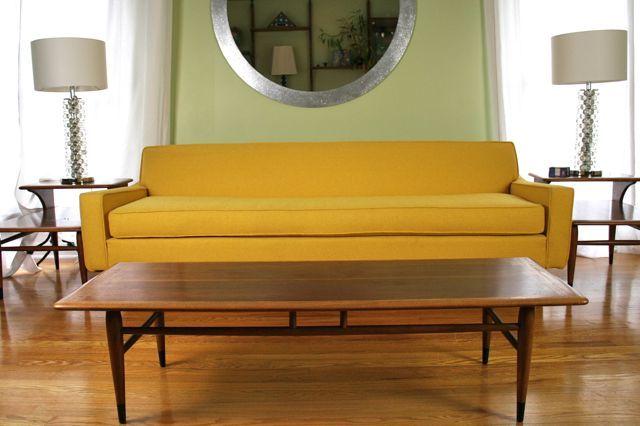 sleek yellow #midcentury modern sofa | Modern sofa, Mid ...