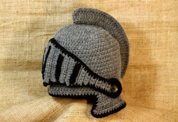 Medieval hat Crochet Knight Helmet Hat with by BadHatCat ...