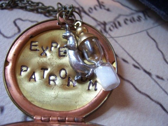 Expecto Patronum charm necklace. This is actually pretty cute.