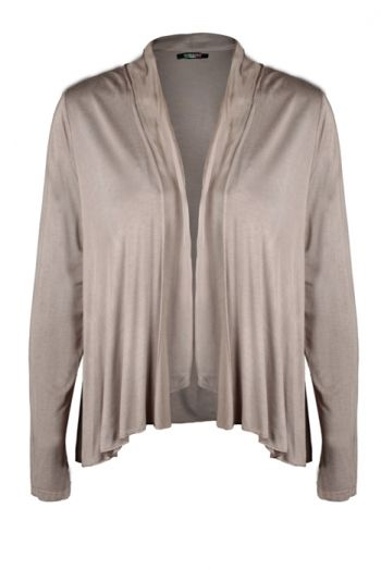 Loraine Beige  Price: € 29.00  Silk and cotton cardi.  Perfect for keeping the chill away.
