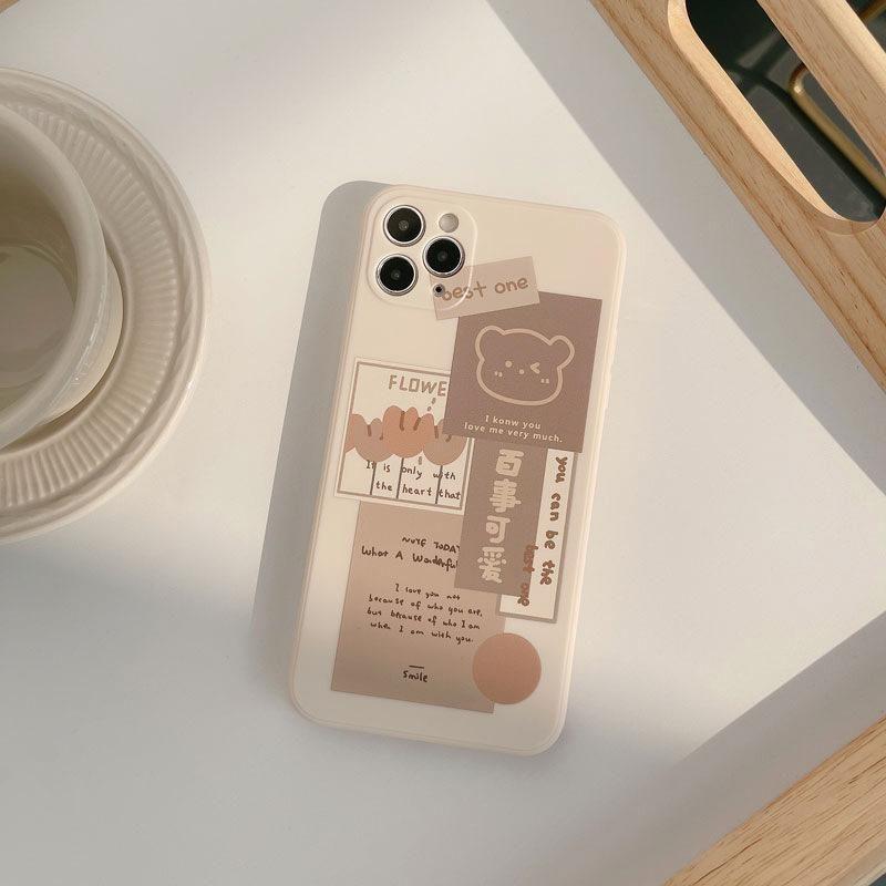 KAWAII BEAR PHONE CASE - for iPhone 11 / Brown