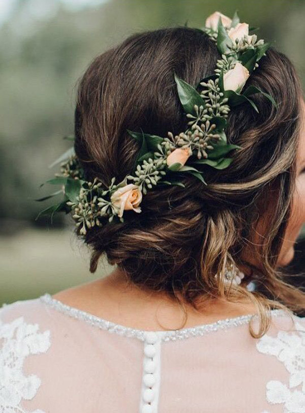 PATRICK/'S Day Clover wedding Rustic bridal hair Boutonniere Four Leaf Clover Bridal flower wreath Irish wedding Flower hair crown ST