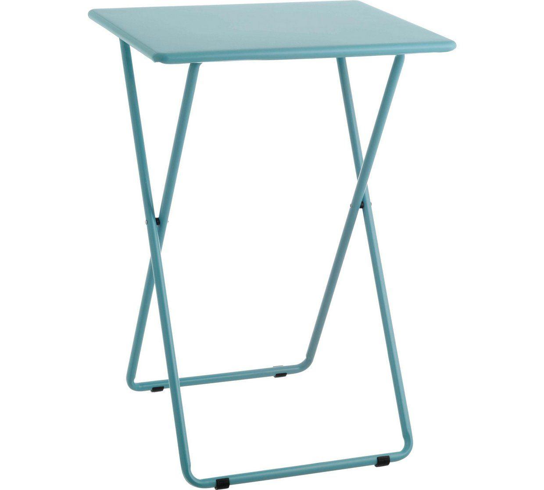 Argos Folding Kitchen Table And Chairs: Habitat Airo Metal Folding Table - Sea Blue