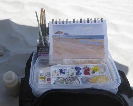 My Simple Portable Gouache Kit Watercolor Kit Gouache Travel