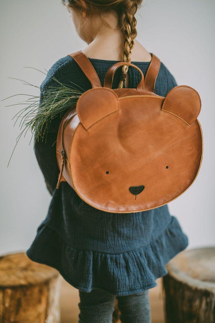 süßer Rucksack Kinder / Lederrucksack Kinder Bär FW18 - available at Smallabl... - #Bär #FW18 #Kinder #Lederrucksack #Rucksack #Smallabl #süßer #babykidclothesandideas